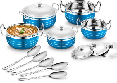 Classic Essential 5pcs coloured handi Induction Bottom Cookware Set(Stainless Steel, 5 -...