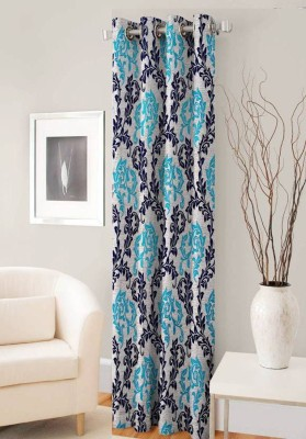 super modern Polyester Multicolor Printed Eyelet Window Curtain(152 cm in Height, Single Curtain)