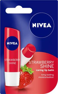 Nivea Shine Caring Lip Balm Strawberry