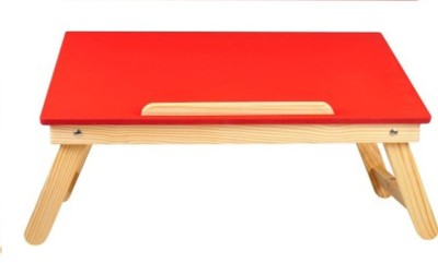 Cart4Craft MDF Colored Engineered Wood Portable Laptop Table(Finish Color - Red)