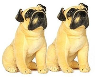 SANA TOYS Sana Brown Pug Dog Pair Of Two cm 32   32 cm Brown SANA TOYS Soft Toys