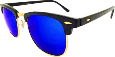92cbced5141 Antic ARB 2140 Unisex Ray ban Style Club master Wayfarer Sunglasses Blue  available at Flipkart for