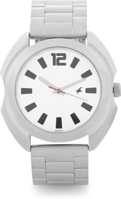 Fastrack Analog White Dial Men's Watch, 3117SM01