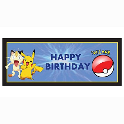 PARTY PROPZ POKEMON BIRTHDAY DECORATION/ BANNER SET OF PIECE / POKEMON PARTY SUPPLIES Banner(5 ft, Pack of 1)