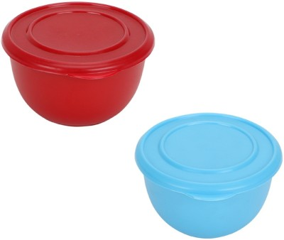 Meenamart Kitchen Classic Plastic, Steel Bowl Set(Multicolor, Pack of 2)