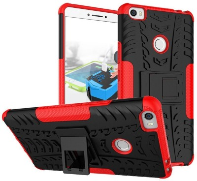 BESTTALK Back Cover for Mi Max 2(Hot Red, Rugged Armor, Rubber, Plastic)