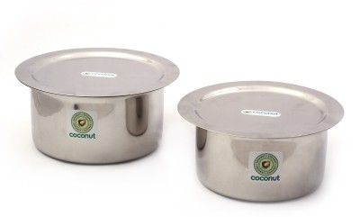 Coconut Tope & Lid Induction Bottom Cookware Set(Stainless Steel, 4 - Piece) at flipkart