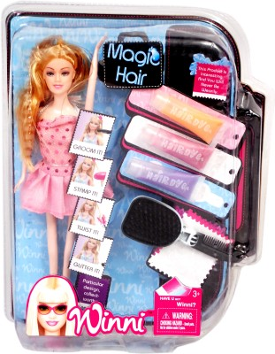 Tipi Tipi Tap Winni Magic Hair Fashion Doll Set With 3 Colors(Multicolor)