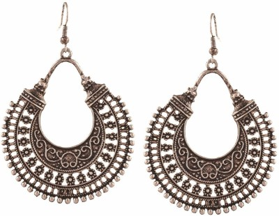 Drops & Dangles Jewellery YouBella Jewellery Summer Special Stylish Oxidised Afghani Tribal Fancy Party Wear Earrings for Girls and Women