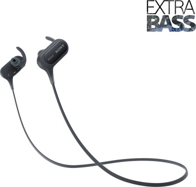 Sony XB50 Bluetooth Headset without Mic(Black, Wireless in the ear)