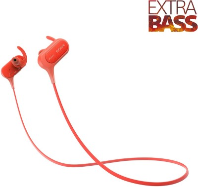 Sony XB50 Bluetooth Headset without Mic(Red, Wireless in the ear)