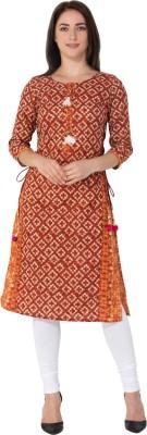 Gulmohar Jaipur Women Printed Straight Kurta Red