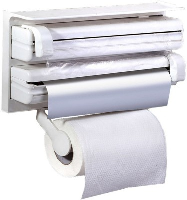 VibeX ® Triple Holder For Cling Film Wrap Aluminium Foil And Kitchen Roll ABS Strong Moulded Easy Flow™ Type-X-1 Paper Dispenser  available at flipkart for Rs.869