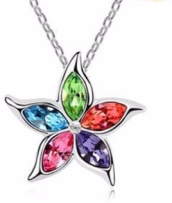 Bolt Holy Cross for Couples Crystal Alloy Pendant Set