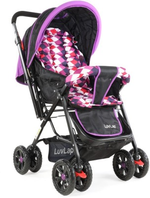 LuvLap Sunshine Baby Stroller - Purple Checks Stroller(3, Purple)