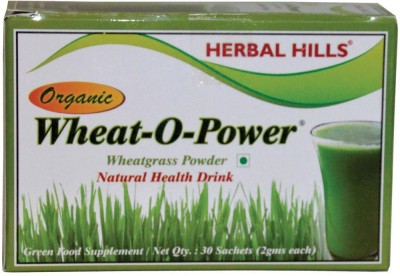 Herbal Hills Wheat O-Power ORGANIC Wheat Grass Powder 2g X 30 Sachets - 100% Organic Ingredients(60 g)  available at flipkart for Rs.345