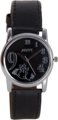 Adine Ad-1233Black Black Fabulous Watch  - For Women