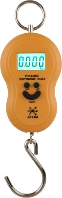 ATOM Portable Electronic Weighing Scale(Black)  available at flipkart for Rs.199