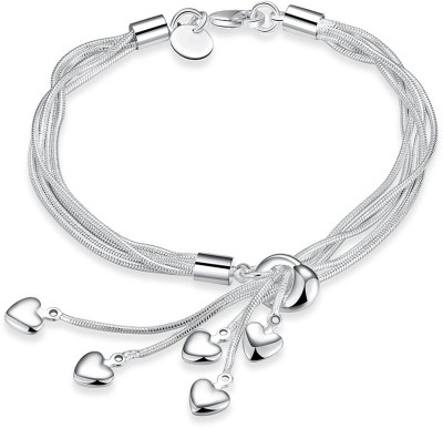 Yellow Chimes Metal Rhodium Bracelet at flipkart