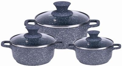 Wonderchef Wonderchef Granite Die Cast Casserole Set  Induction Base  Induction Bottom Cookware Set