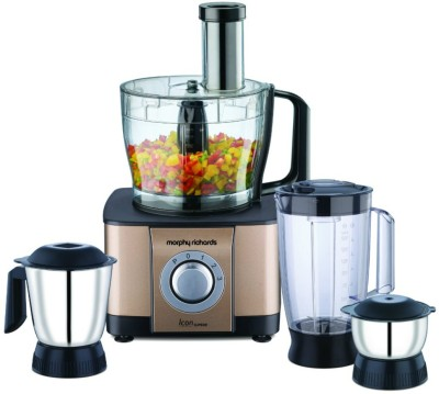 Morphy Richards Icon Superb 1000 W Food Processor(Glazing Copper)