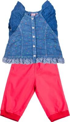 Addyvero Baby Boys & Baby Girls Casual Top Pant(Light Blue)