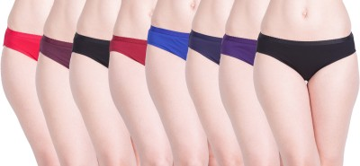 Lux Lyra Women Bikini Multicolor Panty(Pack of 8)