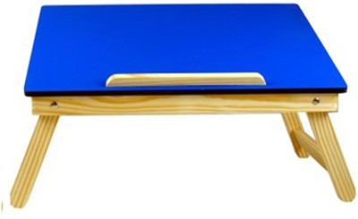 Cart4Craft Colored MDF Engineered Wood Portable Laptop Table(Finish Color - Blue)