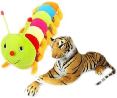 ZICA CATTERPILLAR & LION COMBO  - 35 cm(Multicolor) at flipkart