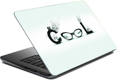 ezyPRNT Sparkle Laminated Be Cool Design (15 to 15.6 inch) Vinyl Laptop Decal 15