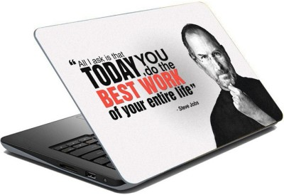 ezyPRNT Sparkle Laminated Steve Jobs Motivation Quote b (15 to 15.6 inch) Vinyl Laptop Decal 15