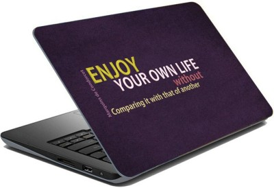 ezyPRNT Sparkle Laminated Enjoy your own Life (15 to 15.6 inch) Vinyl Laptop Decal 15