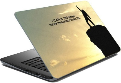 ezyPRNT Sparkle Laminated I Can Motivation Quote (15 to 15.6 inch) Vinyl Laptop Decal 15