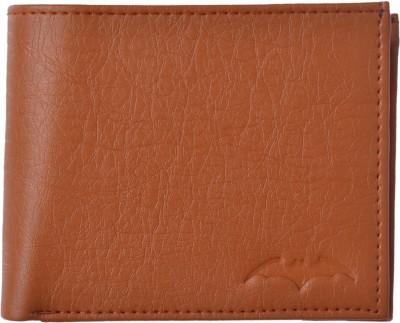 Batman Men Tan Artificial Leather Wallet(5 Card Slots)