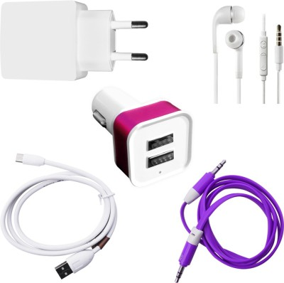 DAKRON Wall Charger Accessory Combo for Samsung Galaxy Nexus I9250 White DAKRON Mobiles Accessories Combos