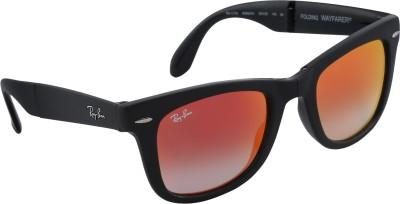 Ray-Ban Wayfarer Sunglasses(Orange) at flipkart
