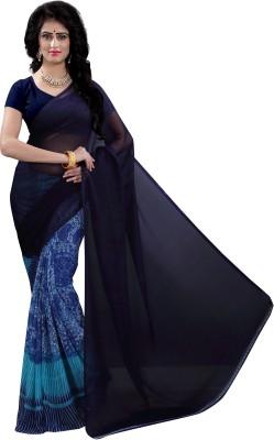 Vimalnath Synthetics Floral Print Fashion Chiffon Saree(Dark Blue)  available at flipkart for Rs.374