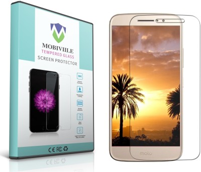 MOBIVIILE Tempered Glass Guard for Motorola Moto M Pack of 1