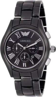 Abrexo ABX-2122BLK-SLV Date Display Analog Watch For Men