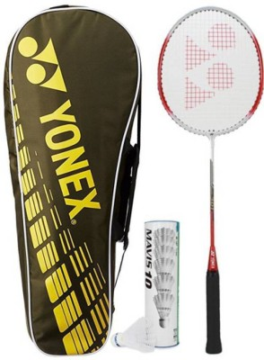 Yonex Combo Kit Badminton Kit(1 GR301 Badminton Racquet, 1 SUNR 1004 Kitbag, 1 Mavis 10 shuttlebox (Pack of 6))