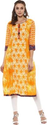 Prakhya Women Printed Straight Kurta(Multicolor)