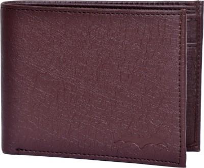 Batman Men Brown Artificial Leather Wallet(5 Card Slots)
