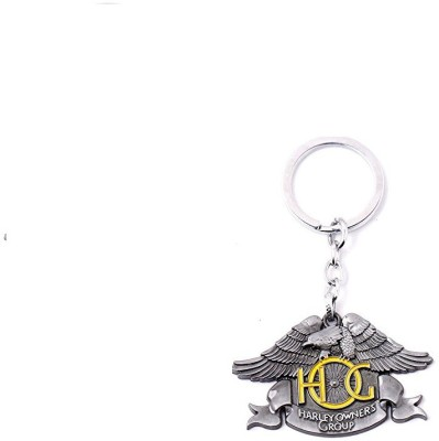 Optimus Traders Motor Harley-Davidson Cycles Owners Group big Skull Logo 3d Metal Key Chain(Silver)