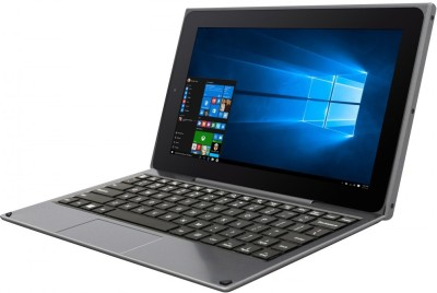 Venturer Quad Atom Quad Core 2nd Gen - (32 GB/32 GB HDD/32 GB SSD/32 GB EMMC Storage/Windows 10/2 GB Graphics) WT19803W87DK 2 in 1 Laptop(10.1 inch, Metallic Black, 603g excluded keyboard,1084g with keyboard (Approx kg)