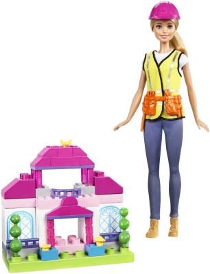 Barbie Builder Doll & Playset(Multicolor)