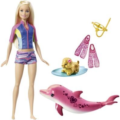 Barbie Dolphin Magic Snorkel Fun Friends(Multicolor)