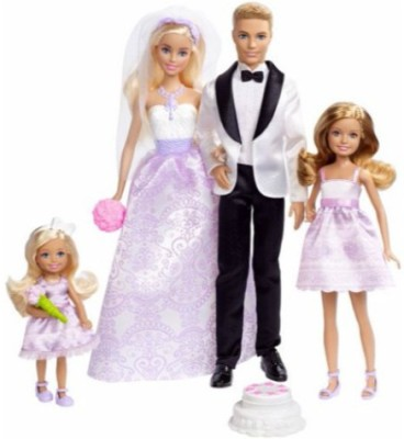 Barbie Wedding Gift Set(Multicolor)