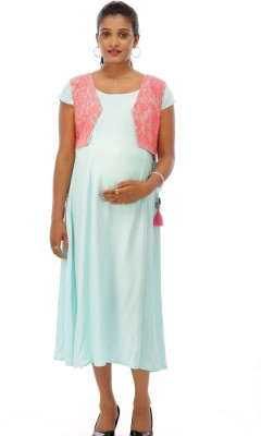 17400c4bfe9cc Buy Ziva maternity wear Women A-line Light Blue Dress on Flipkart |  PaisaWapas.com