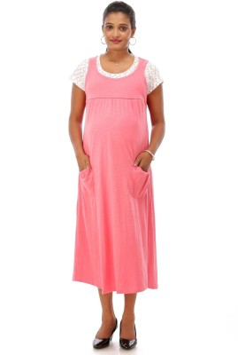 c9236db0061e8 Buy Ziva maternity wear Women A-line Pink Dress on Flipkart | PaisaWapas.com