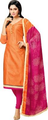 Kalinda Chanderi Solid, Embellished Salwar Suit Dupatta Material(Un-stitched)